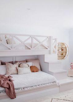 Bunk Bed Designs, Kids Bedroom Designs, Cute Bedroom Ideas, Room Ideas Bedroom, Bedroom Decor, Modern Kids Bedroom, Kids Bedroom Furniture, Bedroom For Kids, Modern Teen Room