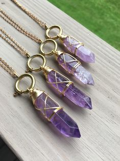Your place to buy and sell all things handmade Cute Jewelry, Boho Jewelry, Jewelery, Jewelry Accessories, Jewelry Design, Amethyst Crystal, Crystal Pendant, Crystal Jewelry, Crystal Necklace