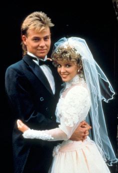 Charlene and Scott from Neighbours.  Remember this one as if it were yesterday!