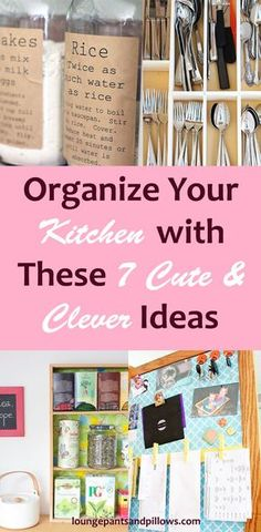 Organize Your Kitchen with These 7 Cute & Clever Ideas