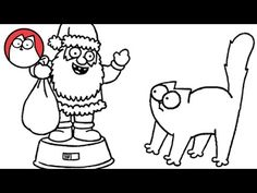 Simon's Cat::Christmas Presence. Part 1: A festive feline goes looking for a Christmas treat. Part 2: A crafty cat plans a Christmassy trick!