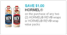 Two Hormel Rev Wraps Coupon Off $1.00