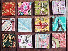 Assorted batik coasters