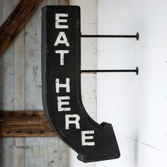 Eat Here Arrow Sign