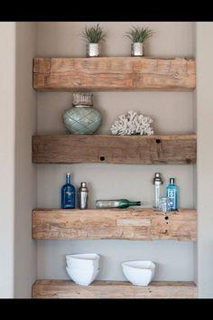 Homemade shelves