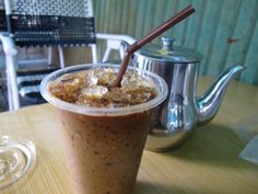 Cambodian/Thai Iced Coffee. Simple, rich, sweet, and low fat, this recipe is inspired by Cambodia's delicious tradition.