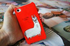 Iconemesis Llama iPhone case via burkatron