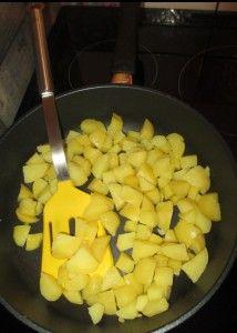 Bratkartoffeln fix und mit nur ein paar Spritzern Öl in der Gastrolux Pfanne gebraten