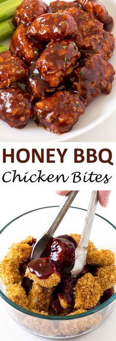 Baked Honey Barbecue Chicken Bites