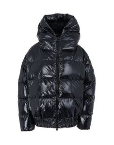 Techno fabric Logo Basic solid color Single-breasted Zip Hooded collar Multipockets Long sleeves Duck down filling Contains non-textile parts of animal origin Duck Down, Bag Accessories, Bacon, Sportswear, Jackets For Women, Winter Jackets, Long Sleeve, Sleeves, Clothes