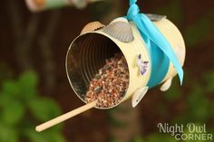 Aluminum Can Bird Feeders - Night Owl Corner
