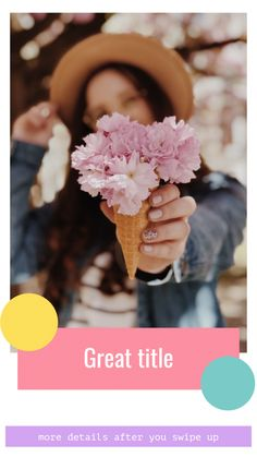Great title more details after you swipe up Instagram Story Template