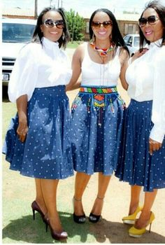 Shweshwe and Shoeshoe Traditional Dresses 2019 ⋆ African Dresses For Women, African Attire, African Fashion Dresses, African Wear, African Women, Xhosa Attire, African Print Skirt, African Print Dresses, African Print Fashion