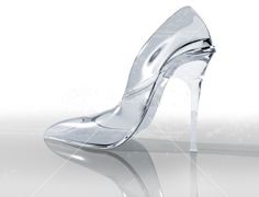 Transparent Wedding Shoes, ie. glass slippers. I CAN BE CINDERELLA ...