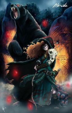 Twisted princess merida by disney princess fan art Disney Pixar, Disney Diy, Disney Fan Art, Disney E Dreamworks, Dark Disney Art, Disney Couples, Disney Ideas, Disney Movies, Zombie Disney