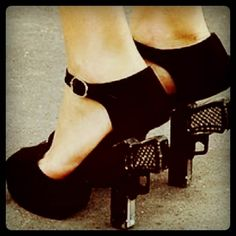 They say your heels are weapons...well?