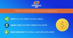 Easy Cash With Friends 🤑 Referral Pay How To Get Money Fast, Earn Free Money, Make Easy Money, Make Money Fast, Earn Money Online, Online Earning, Online Jobs, Social Media Usage, Fast Cash
