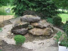 No one receives the same water feature, so your customized natural stone fountain can never be duplicated which provides you with a one of a kind design. Description from kleinslandscaping.com. I searched for this on bing.com/images