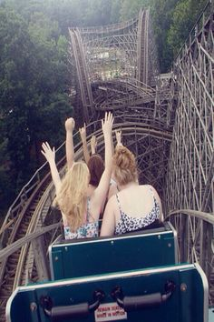 Taking the Drop Roller coaster. I love rollercoasters!
