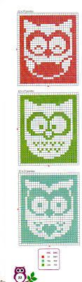 Owl Bookmark Cross Stitch Owl, Cross Stitch Bookmarks, Cross Stitch Charts, Cross Stitching, Cross Stitch Patterns, Knitting Charts, Knitting Stitches, Knitting Patterns, Bookmarks