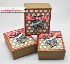 Splotch Design - Jacquii McLeay - Stampin Up - Chalk Talk Boxes