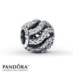 Pandora Charm Clear CZ Sterling Silver