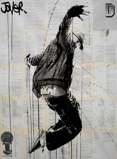 "Saatchi Online Artist Loui Jover; Drawing, ""close to the edge"" #art"