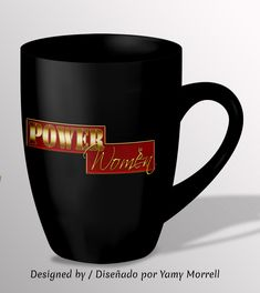 #sublimation #graphicdesign #diseñografico #empowering #powerwomen #coffecupdesign #tazadecafe Powerful Women, Typography, Graphic Design, Mugs, Tableware, Art, Coffee Cup, Patterns, Letterpress