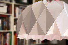 DIY suspension en papier, origami #OrigamiLamp