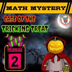Halloween Math FLASH FREEBIE! FREE for a limited time only! (25th October - 31st October!) Halloween Math Mystery, (Grade 2) Case of The Tricking Treat students must solve a variety of math questions to reveal clues in order to help them find the villain using tricking treats on children and turning them into pumpkins this Halloween!This math mystery story is also available for Grades 3, 4, 5 and 6 (or if you would prefer a more difficult version).