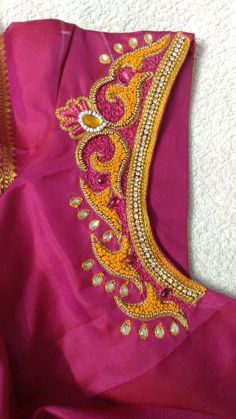 South Indian Blouse Designs, Best Blouse Designs, Simple Blouse Designs, Mirror Work Blouse, Wedding Saree Blouse Designs, Maggam Work Designs, Baby Dress Patterns, Designer Blouse Patterns, Blouses