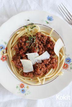 Ragù alla Bolognese (in finnish)   Kokit ja Potit -ruokablogi