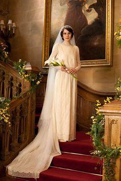ダウントン・アビー メアリーのウェディングドレス|プリザーブドフラワーギフト・ウェディング小物のアトリエGlycineグリシーヌ
