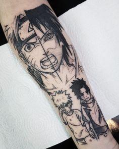 Sasuke y naruto, uma linda tatoo ! 42 Tattoo, Manga Tattoo, Anime Tattoos, Fake Tattoos, Body Art Tattoos, Small Tattoos, Tattoos For Guys, Sleeve Tattoos, Taboo Tattoo