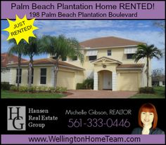 Palm Beach Plantation Home Rented! 198 Palm Beach Plantation Blvd. We Just Rented another home in Palm Beach Plantation!