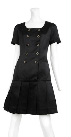 Authentic vintage Chanel from Resurrection Vintage PLEATED DRESS