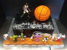 space jam birthday cake