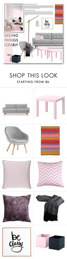 """Untitled #733"" by anitadz on Polyvore featuring interior, interiors, interior design, home, home decor, interior decorating, Thrive, HAY, Dash & Albert and Surya"