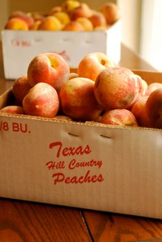 Texas Hill Country Peaches! We love these peaches! Add them to Blue Bell and we're in heaven!