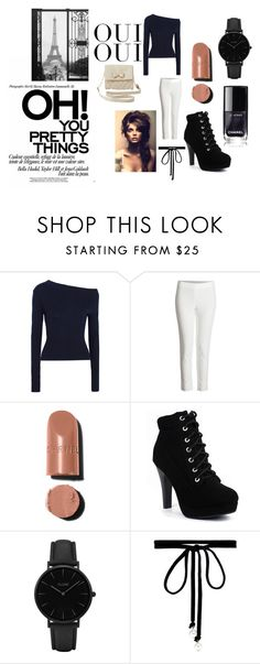 """Oui Oui"" by joeline-norris ❤ liked on Polyvore featuring Jacquemus, CLUSE, Joomi Lim, Charlotte Russe and Oui"