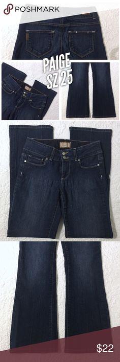 sz 25 paige designer jeans bootcut dark wash sz 25 dark wash paige jeans these