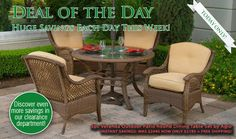 Max Furniture Deal Of The Day 5pc Veranda Outdoor Patio Round Dining Table Set by Agio - Sale Ends 5/2 http://www.maxfurniture.com/detail-Outdoor-Outdoor-Dining-Collections-5pc-Veranda-Outdoor-Patio-Round-Wicker-Glass-Top-Dining-Table-Set-by-Agio-44-44187.aspx