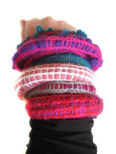 Stuffed bracelets by Malou Paul
