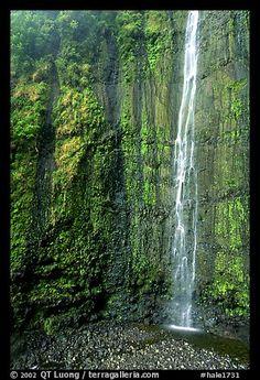 Waimoku Falls in Haleakala NP, Hawaii