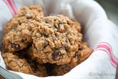 Browned Butter Oatmeal Chocolate Chip Cookie ~ Chewy oatmeal chocolate chip cookies with browned butter, dark chocolate chips, and pecans. ~ SimplyRecipes.com
