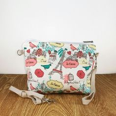 $18 Pouch sloopie handmade code PH014, made from canvas layer cotton, 1 handle 15cm, 1 long rope 125cm can be mini slingbag,  size:23cm x 3cm x 18cm,   made for order, whatsapp +6287808276718  email:sloopie.made@gmail.com