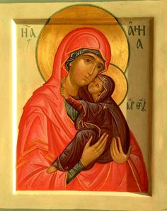 St. Anna Saint A, Mama Mary, Byzantine Art, Orthodox Christianity, Orthodox Icons, Crochet Baby, Images, Blessed, Anna