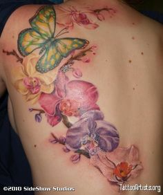 Image detail for -Orchid Butterfly - Tattoo Artists.org