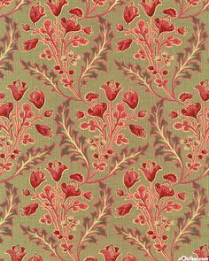 Le Fete De Noel - Flowers in Winter - Khaki Green