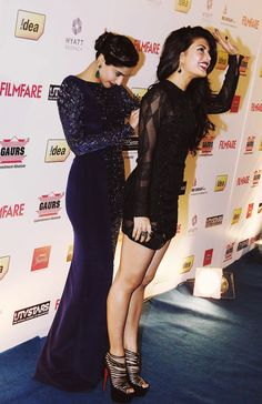 Sonam Kapoor comes to her rescue when Jacqueline Fernandez has a wardrobe malfunction! Thank god for best friends!